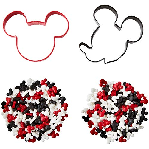 Wilton Mickey and The Roadster Racers Cookie Cutter and Sprinkles Decorating Set, 4-Piece ()