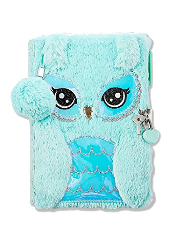 Justice For Girls Owl Faux Fur Journal Diary by Justice