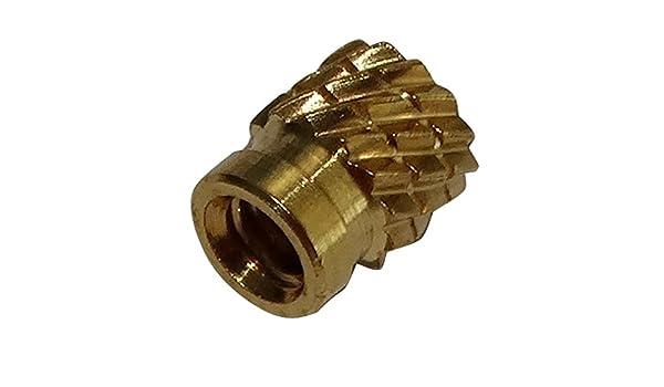 AERZETIX 10x Tuercas insertos laton para plastico termoestable rosca M2 4.1mm C19128