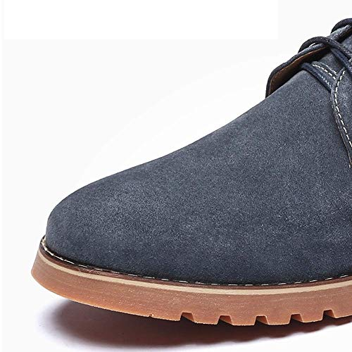 Hombres HhGold útiles Hombres Retros los los 6 de ata los Azul cómodos Los Cuero 7 de los Zapatos para Ocasionales para EEUU Reino los 5 Color Azul Unido Arriba 5 tamaño de Zapatos rqr8T
