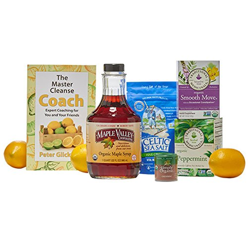 Maple Valley 5 Day Organic Master Cleanse Lemonade Detox/Kit with Peter Glickman Master Cleanse Coach Book Master Cleanse Kit