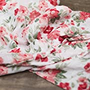 Saranoni Luxury Decorative Muslin Swaddle Baby Blanket (Spiced Blossom Floral)