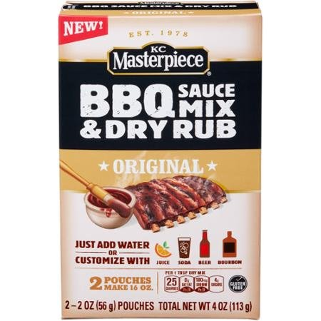 KC Masterpiece Original Barbecue Sauce Mix & Dry Rub (PACK OF 4) by KC Masterpiece