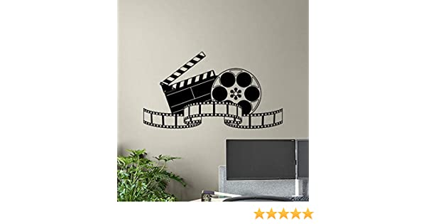Theater Wall Decals Film Strip Movie Tape Cinema Poster Home Theater Wall Art Film Decor Office Stickers Home Decoration Mural Removable Vinyl Sticker ...