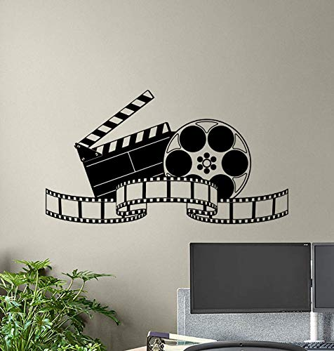 (Theater Wall Decals Film Strip Movie Tape Cinema Poster Home Theater Wall Art Film Decor Office Stickers Home Decoration Mural Removable Vinyl Sticker Bedroom Print 889)