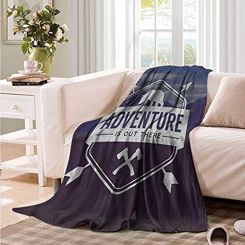 Oncegod Soft Warm Coral Fleece Blanket Adventure Bear Mountain Logo Sofa Warm Bed 60