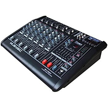 8 channel professional 4000 watts powered mixer with usb sd slot 16 dsp digital. Black Bedroom Furniture Sets. Home Design Ideas