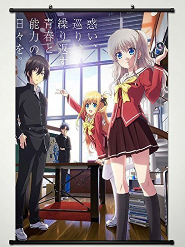 Charlotte Wall Scroll Poster Fabric Painting For Anime Yuu O