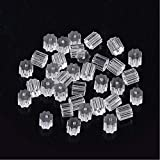 Clear Earring Backs, 500PCS Earring Stoppers, Hypo-allergenic Jewelry Accessories, Silicone