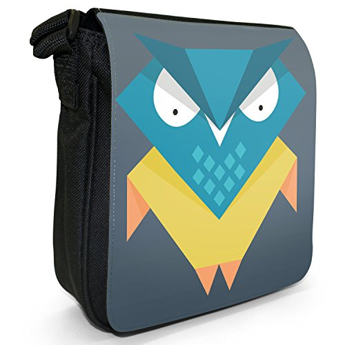 Owls Size Sharp Canvas Wise Awesome Young Small Owl Bag Black Shoulder Fun Old Geometric Funky gqATIfT