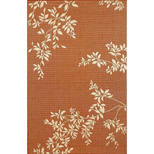 Liora Manne Terrace Vine Rug, Indoor/Outdoor, 4-Feet 11-Inch by 7-Feet 6-Inch, Terracotta ()