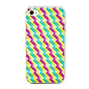 GONGXI-Inclinado patrón de líneas onduladas de nuevo caso para el iPhone 4/4S