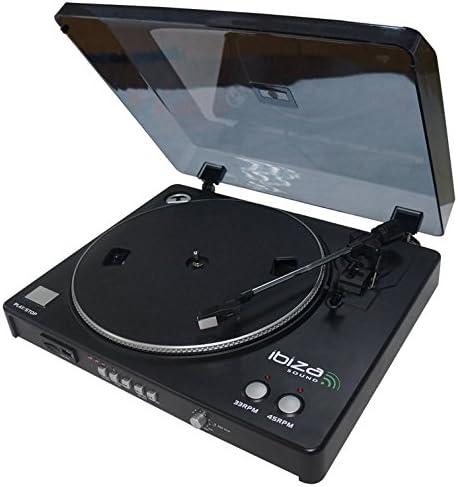 Ibiza LP300 - Giradiscos (USB, SD, con función de grabación ...