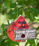 Ivy Home Red Polystone and Plastic Portly Bird Feeder House