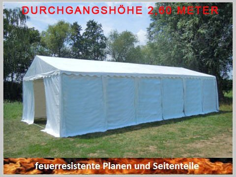 Pavillon Pavillion Festzelt Partyzelt Giant Pro PVC FR XXL 6x12m 12x6m 6x12 12x6 ohne Fenster