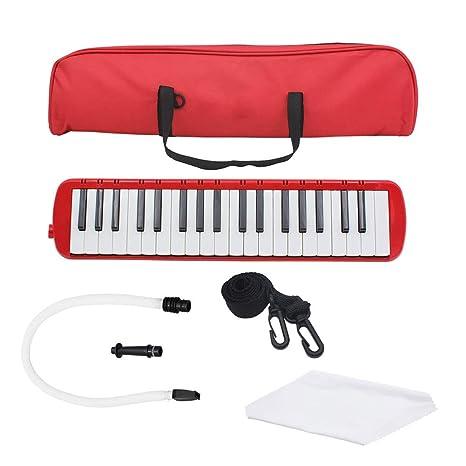 NUYI-4 37-Key Tone Piano Rojo Escuela Profesional enseñanza Tono Piano Instrumentos Musicales