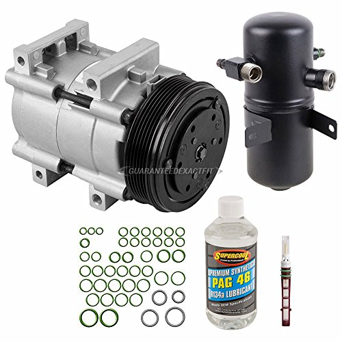New AC Compressor & Clutch With Complete A/C Repair Kit For Ford Bronco Truck - BuyAutoParts 60-80213RK (Ford Bronco Clutch Kit)