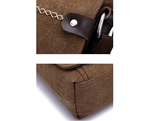 Shoulder purpose Messenger Travel Business Brown Backpack Bag Ultra slim Leisure Men's Multi EqWAAg