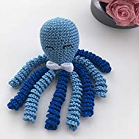 Crochet Octopus for babies, octopus for preemies - Light blue and blue