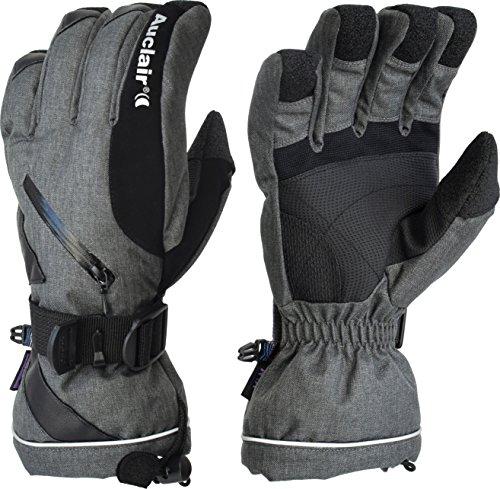 Auclair Women's Snowmass Waterproof Winter Gloves: Small, Charcoal Wool