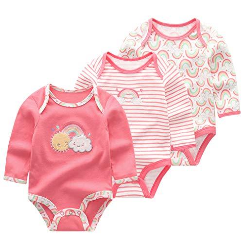 Krastal Baby Boys Clothes 3 PCS Summer Long Sleeve Cotton Jumpsuit Autumn Baby Bodysuit
