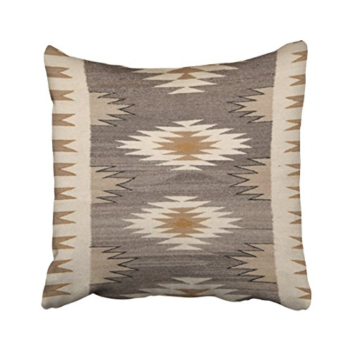 Capsceoll historica navajo american indian print Decorative Throw Pillow Case 16X16Inch,Home Decoration Pillowcase Zippered Pillow Covers Cushion Cover with Words for Book Lover Worm Sofa Couch
