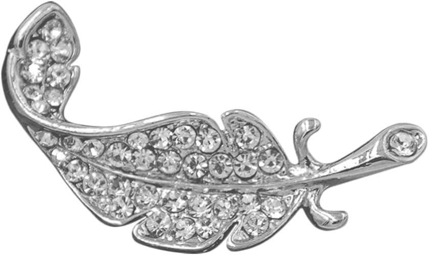 Holibanna 1Pc Kreative Kristallbrustnadeln Zarte Frauen Broschen Legierung Brosche Stifte Kost/üm Requisiten f/ür Party Bankett Dekoration Geschenk Silber