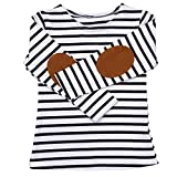 Gotd Toddler Infant Baby Girl Boy Clothes Winter Long Sleeve Stripe Long Sleeve Tops T-Shirt Blouses Autumn Outfits Gifts Christmas (5T(4-5 Years), Navy)