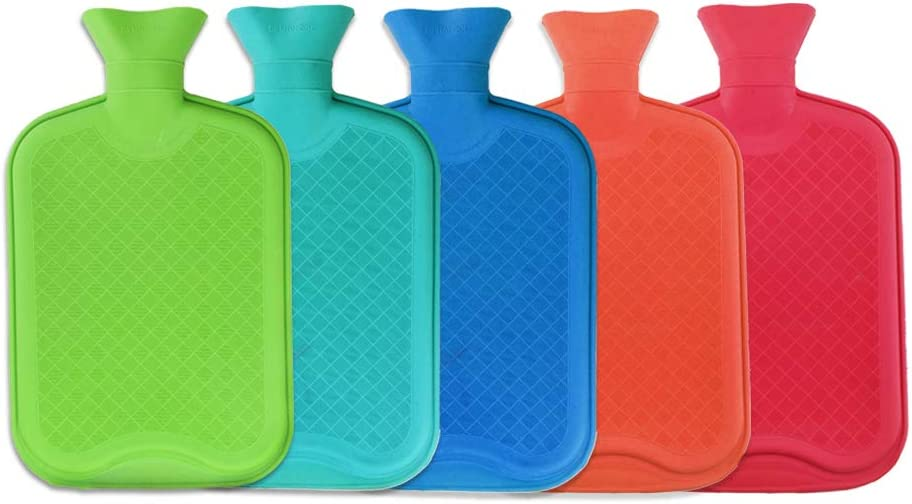 WTSHOP Premium Simple Rubber 2.5L Hot Water Bag(Random Color),Great for Pain Relief,Hot and Cold Therapy,Natural Rubber BPA Free- Durable Hot Water Bottle: Health & Personal Care