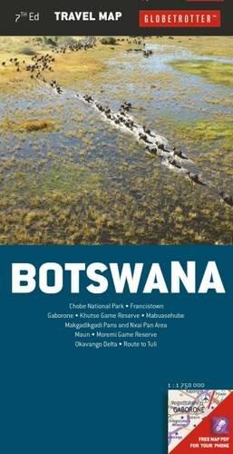 Botswana Travel Map, 7th (Globetrotter Travel Map) - Globetrotter Travel Map