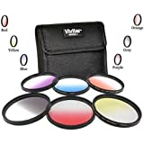 Vivitar 67mm Graduated Color 6 Piece Filter Kit for Nikon D5300 D7000 D7100 DSLR
