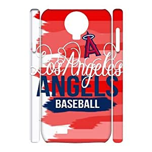 3D Samsung Galaxy S4 Case, Los Angeles Angels Case for Samsung Galaxy S4 {White}