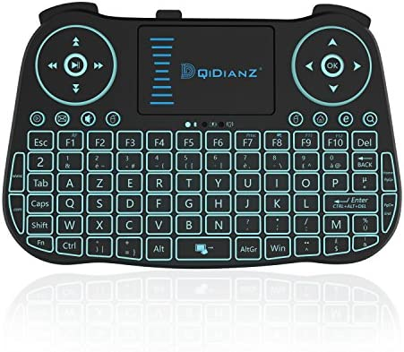 DQiDianZ Mini Teclado inalámbrico 2.4 G retroiluminada Touchpad Wireless Teclado para Android Smart TV Box PC – Negro, Integrado Litio Batería: Amazon.es: Informática