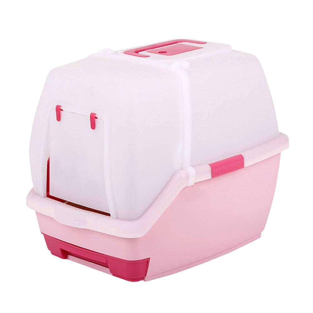Cat Litter Pot Fully Enclosed Double Layer Cartoon Version