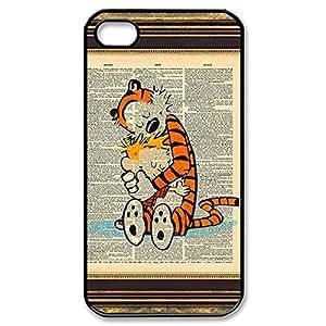 Elegant Design Hard Case Back Cover Case Calvin and Hobbes for iphone 5 5s 4G -Black031310