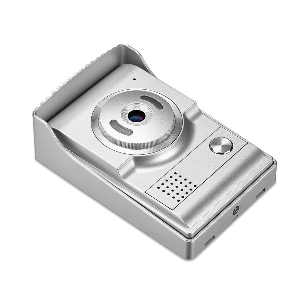 SODIAL El 7 Pulgadas Timbre Sistema de intercomunicacion de Manos Libres con Cable de Seguridad 700TVL Impermeable Monitor de Vision Nocturna Camara casera ...