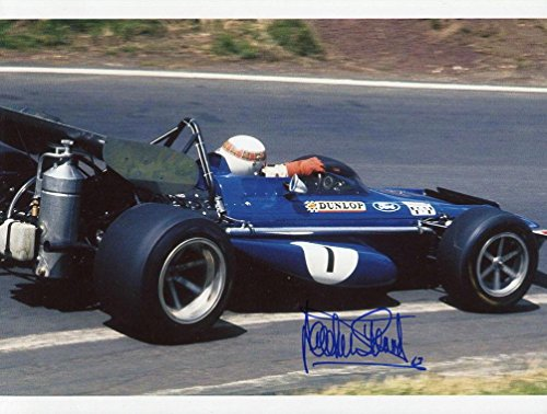 JACKIE STEWART HAND SIGNED 8x10 COLOR PHOTO+COA AWESOME POSE IN CAR - Autographed Extreme Sports (Stewart Hand Signed)