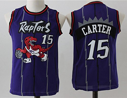 Youth Toronto Raptors Vince Carter #15 Throwback Basketball Jersey Purple M