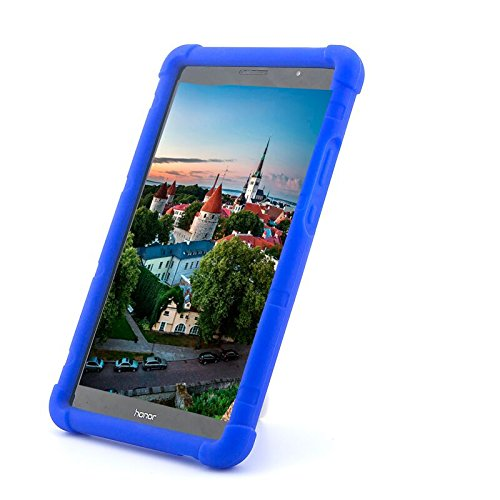 premium selection a0cde 2be2b MingShore Huawei MediaPad T3 8 Cover Silicone Rugged Case with Born  Handstrap for Huawei T3 Model KOB-L09 KOB-W09 8 Inch Tablet Case