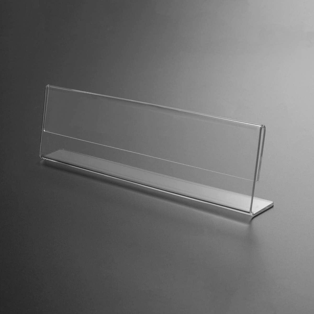 environ 5.08 cm 10 pièces Signe Titulaire avec horizontal de plaque Nom Acrylique Transparent 8 x 2 in