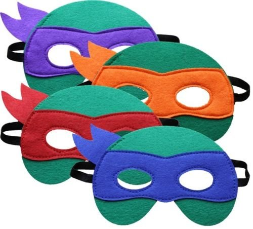 Máscara de Tortuga Ninja Leonardo Michelangelo Raphael ...