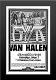 11x17 FRAMED Poster Print Van Halen Live with Steamrock Fever at Civic Arena Concert
