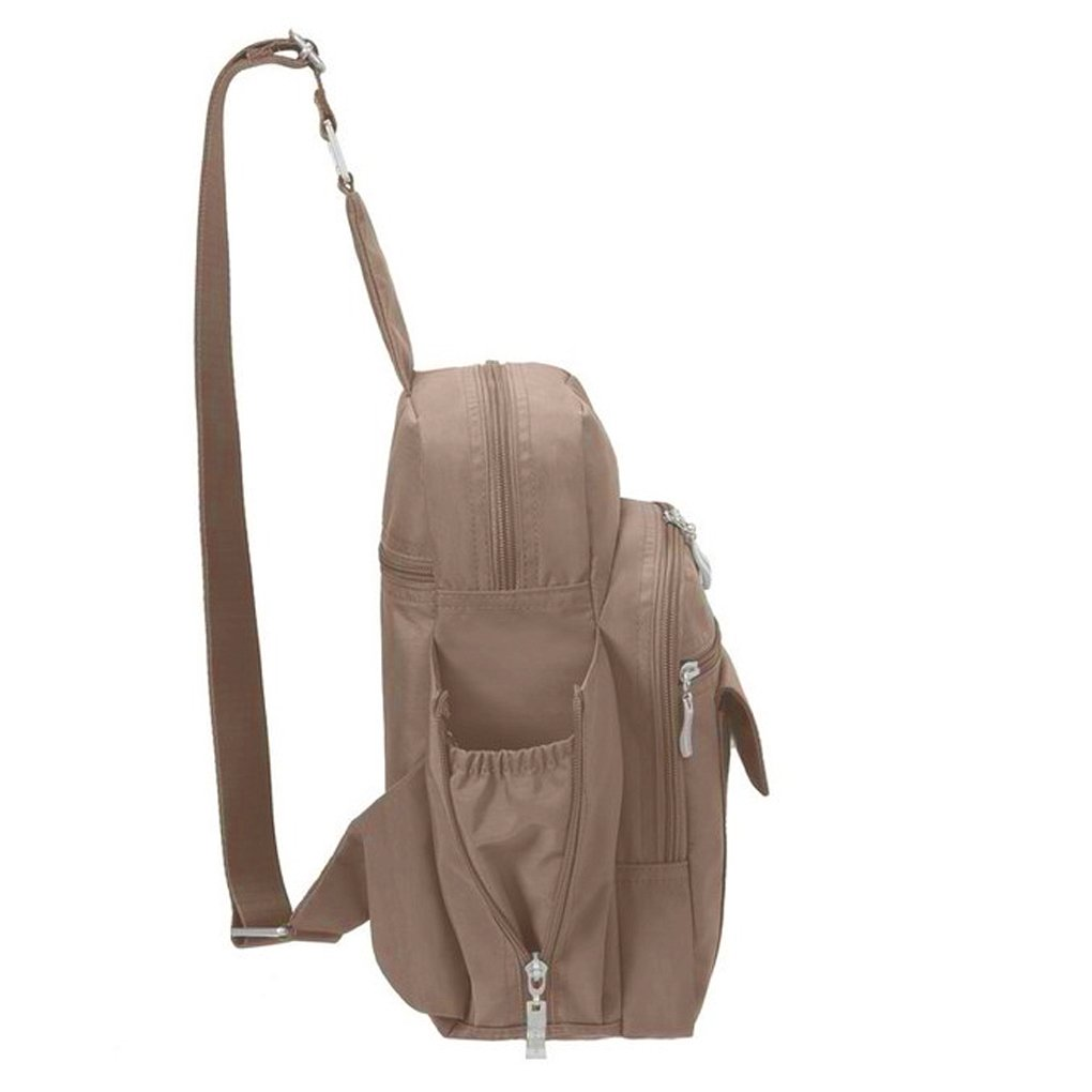 Baggallini Messenger Sling Organizer Shoulder Backpack Bag (Mocha/MES160) by Baggallini (Image #4)