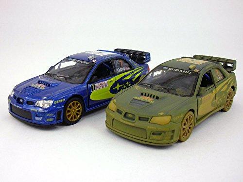 Set of 2 Subaru 2007 Impreza WRC 1/36 Scale Diecast Metal Model - BLUE (Subaru Wrc Impreza)