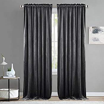Amazon Com Off White Thick Velvet Curtains Absolute