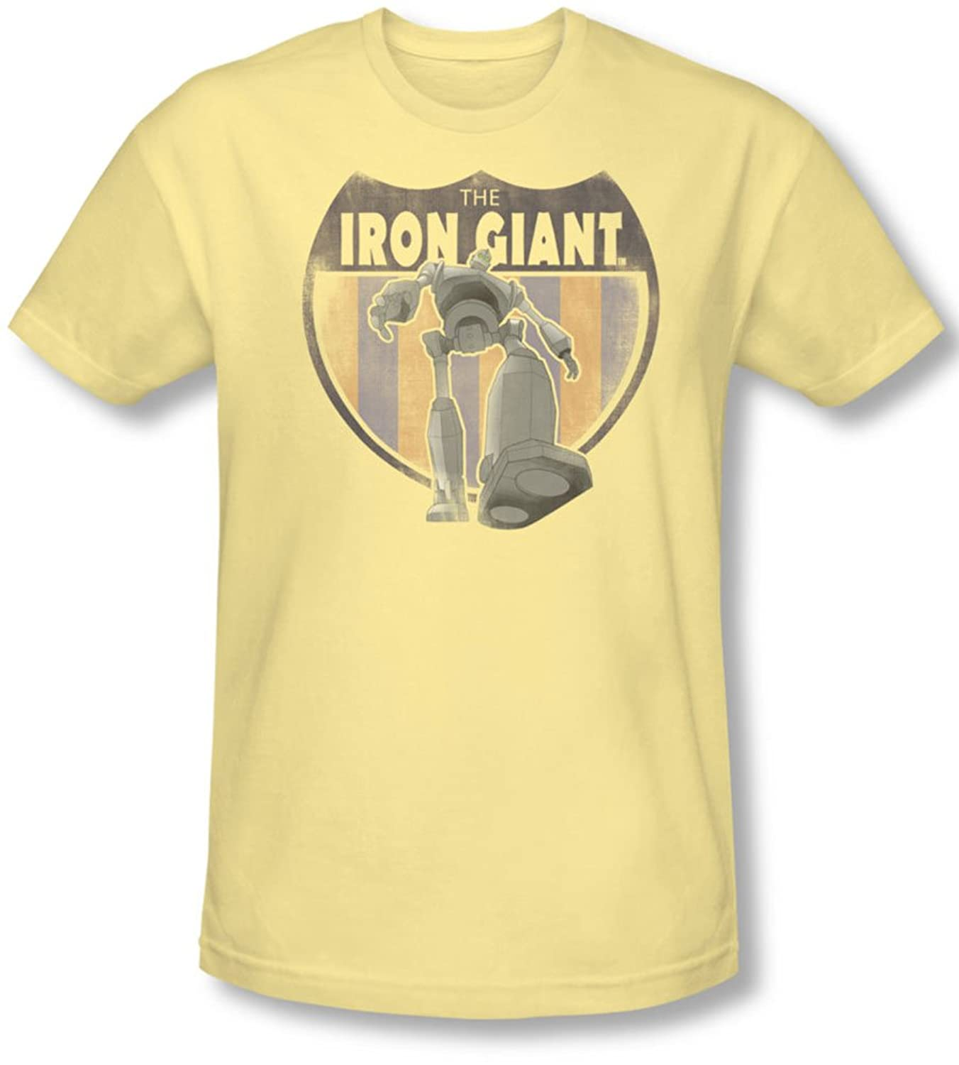 Iron Giant - Mens Patch T-Shirt In Banana
