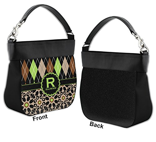 Front amp; Leather Personalized Moroccan Argyle Genuine Mosaic Purse Hobo w Trim zWCwadq0w