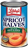 #7: Libby's Unpeeled Apricot Halves in Pear Juice From Concentrate, 15-Ounce Cans (Pack of 12)