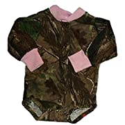 Baby Girls Realtree Camo with Pink Trim Long Sleeve Outfit Newborn to 12m (6-12 Months)
