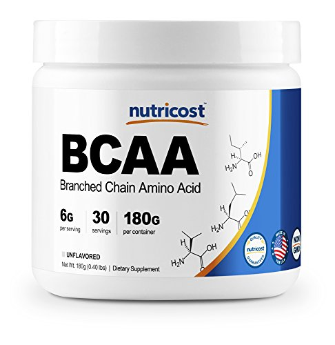 Nutricost BCAA Powder- 2:1:1 (Unflavored) 30 Servings